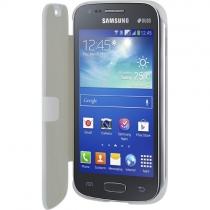 Etui folio blanc pour Samsung Galaxy Ace 3 S7270