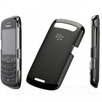 Coque semi rigide noire rayée Blackberry 9360 Curve
