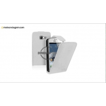 Etui Rabat Blanc pour Samsung S7390 Trend Lite