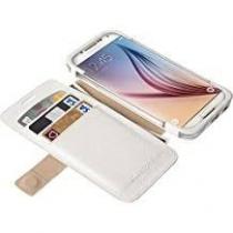 ETUI porte-carte blanc SAMSUNG GALAXY S6