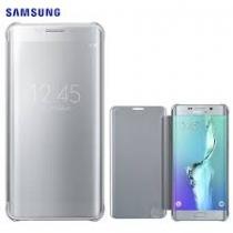 Etui Clear view cover gris Samsung S6 Edge Plus