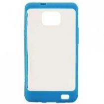 Coque Colorblock transparente et Bleue GALAXY S2