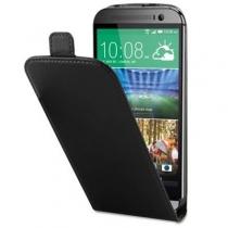 Etui Portefeuille Rabat Simili Noir HTC M8