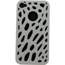 COQUE BLANCHE PERFOREE IPHONE 4/4S