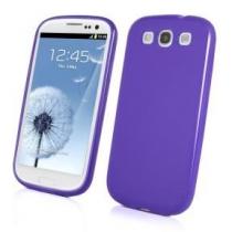 Coque arriere en minigel violet Samsung Galaxy S3 i9300