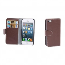ETUI FOLIO MELKCO MARRON IPHONE 5/S
