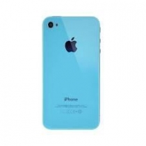 VITRE ARRIERE IPHONE 4S TURQUOISE