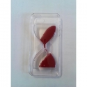 COQUE CRYSTAL SABLIER ROUGE IPHONE 5/5S