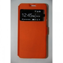 Etui coque S-view orange samsung galaxy A5/2015